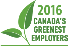 2016 Canada's Greenest Employer logo