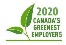 2020 Canada's Greenest Employer logo
